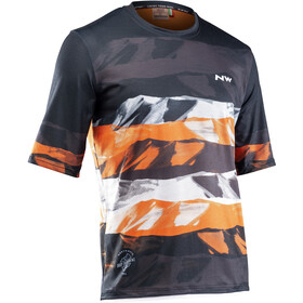 Northwave Xtrail MTB Maillot Manches courtes Homme, black/orange/whit